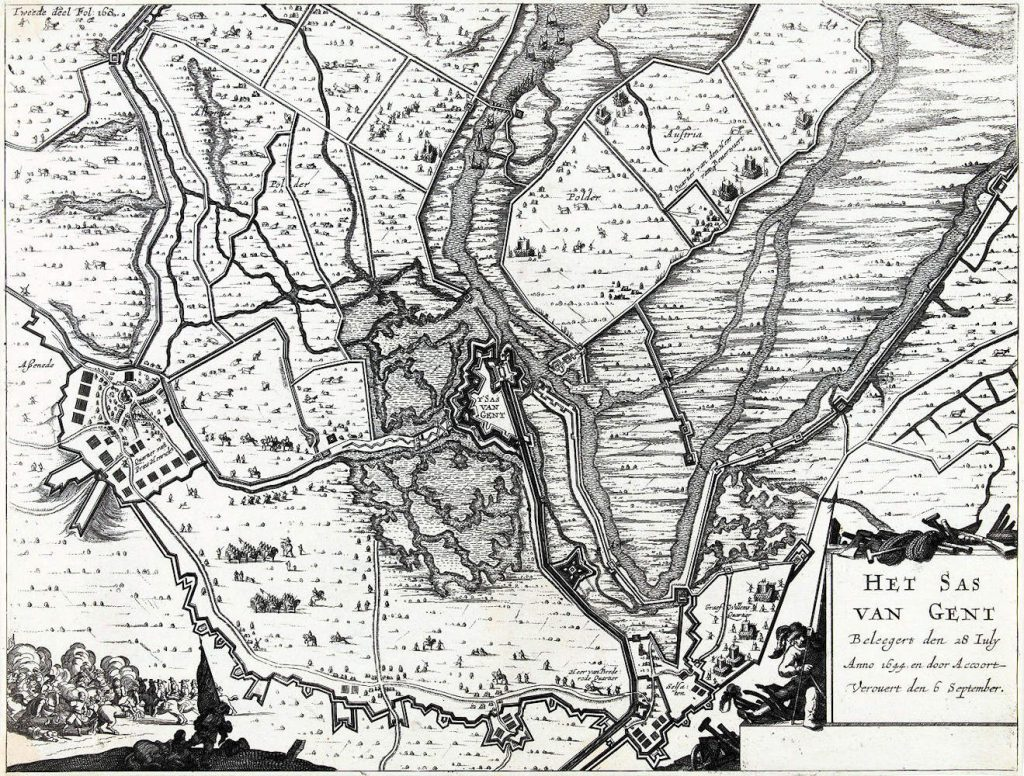Map Sas van Gent 1644